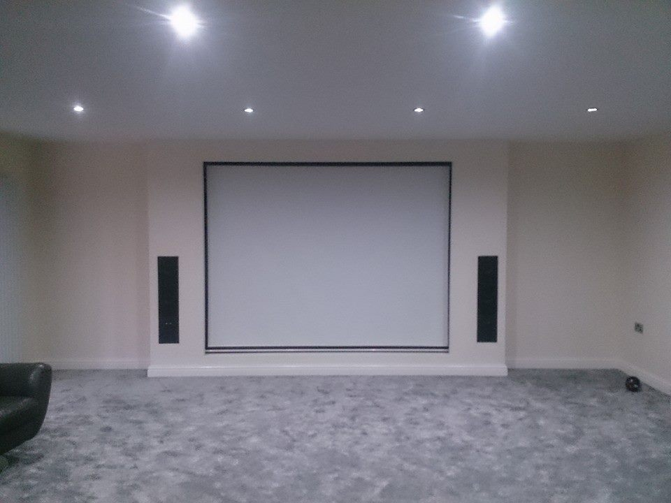 roller screen cinema room