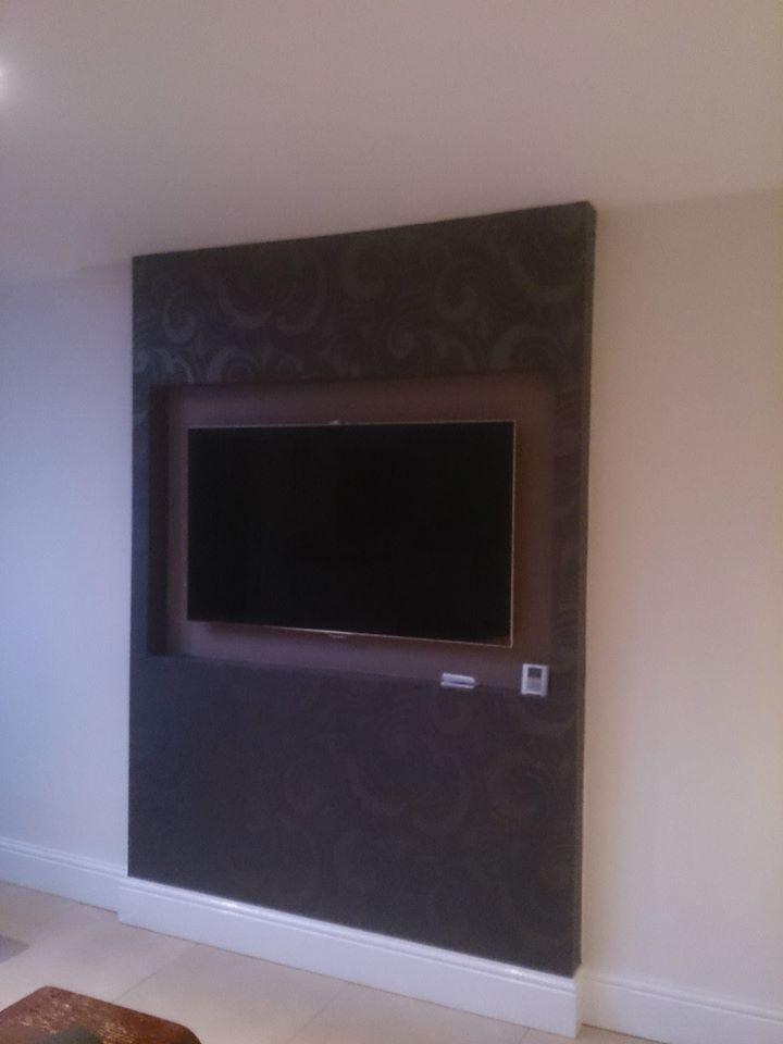 Kitchen inset flat screen TV