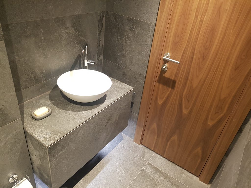 Bespoke stone fronted sink cabinet