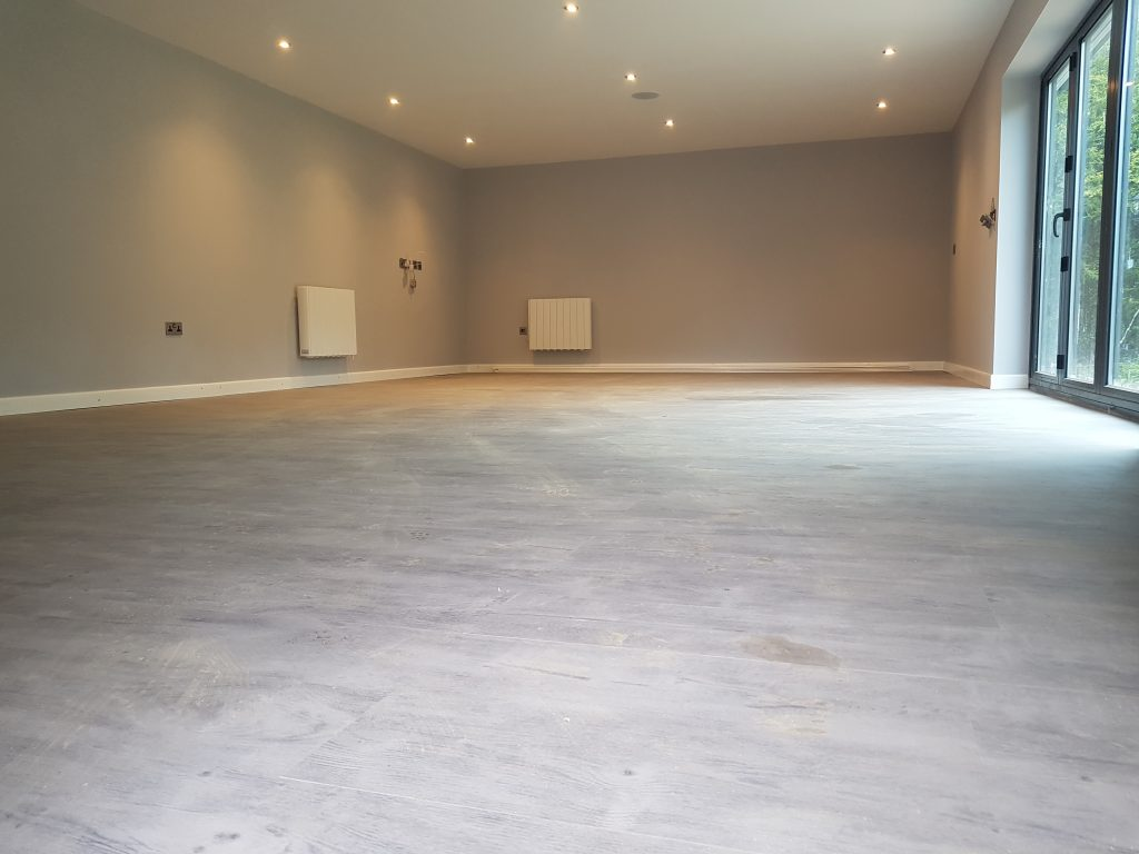 electric rads and laminate flooring