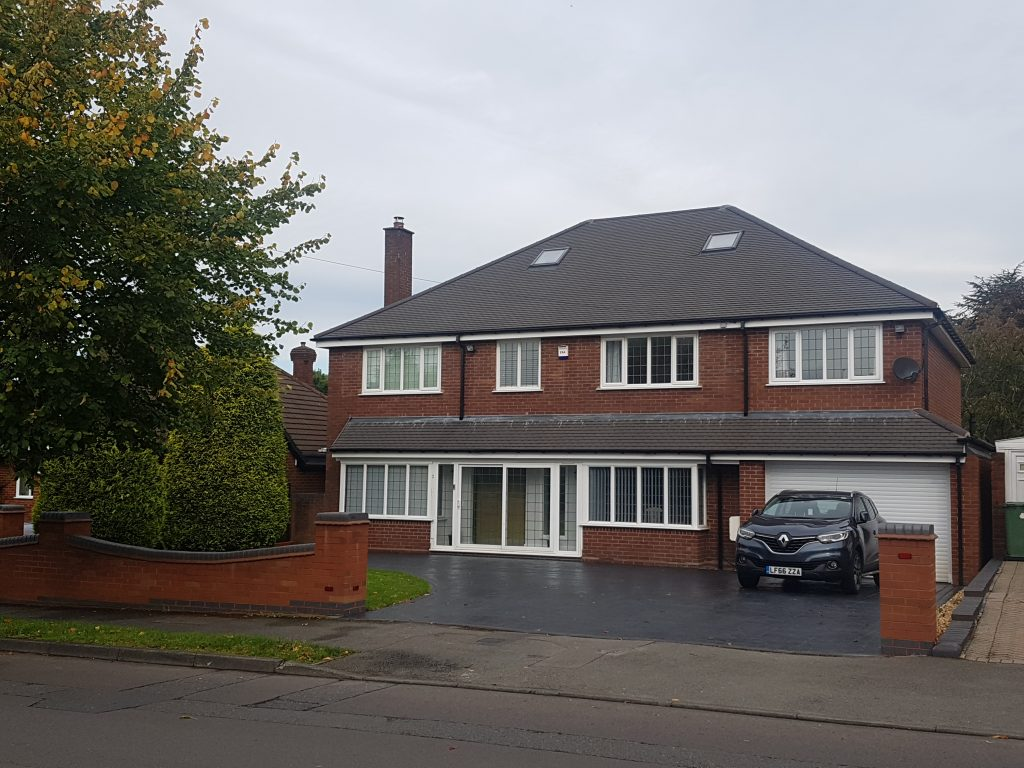 side extension with brick matching