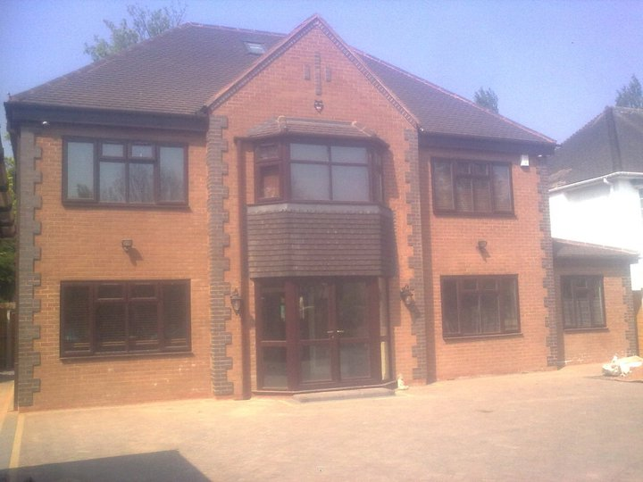 House rebuild with new outer brick work on existing house